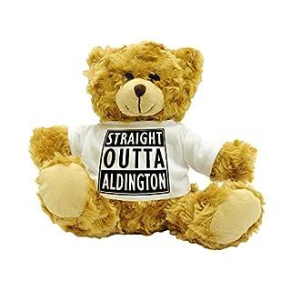 STRAIGHT OUTTA ALDINGTON - Stylised Cute Plush Teddy Bear Gift - Approx 22cm High.