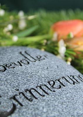 """Grabherz geschwungen, """"In liebevoller Erinnerung"""" von friedhofskerze.de auf Du und dein Garten"""