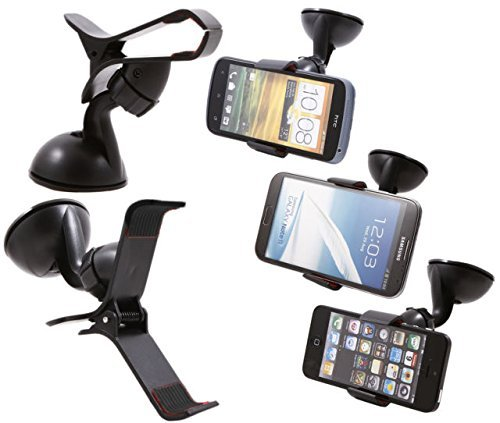 ECellStreet Car Mount Cradle Holder Windshield Mobile / Gps Suction Holder Stand for Spice M-6112  available at amazon for Rs.240