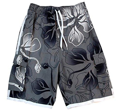 Tronco-de-bao-para-hombres-Palm-Wave-en-Hibisco-gris-XL