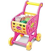 Blesiya Pretender Juego de Carrito de Compra Alimentos Frutas Vegetable Playset de Plástico Juguete Educativo para