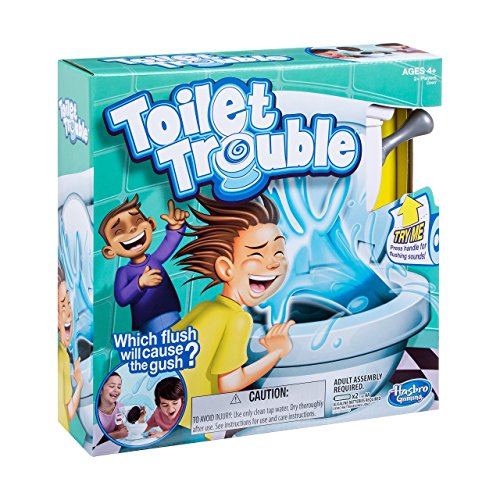 Hasbro Toilet Trouble Game - PIPI Party [UK Edition] (Online Rush Spiel Hour)