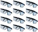 12 Schutzbrillen Brille Seitenschutz Bügel Verstellbar Sicherheitsbrille