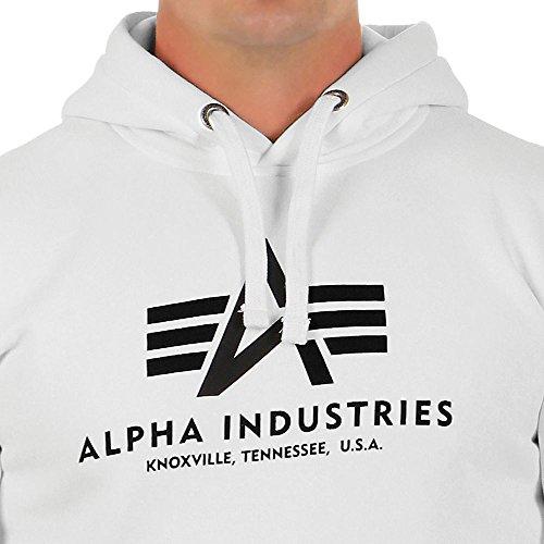 Alpha Industries Herren Hoodie White