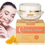 Vitamin C Creme Gesicht, Antifaltencreme Whitening-Creme, Gesicht Körper Dunkle Flecken Altersflecken Antialterung Anti Falten feuchte, 30g