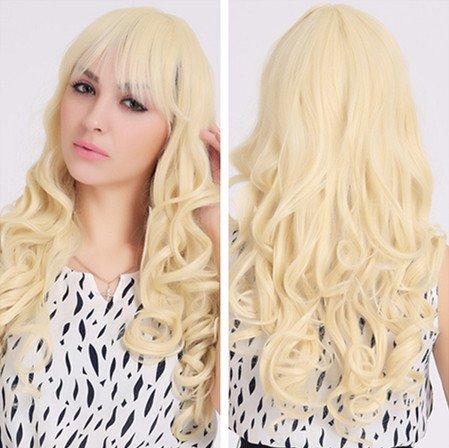 Meylee Perücken Europäische Mode Blonde lange lockige Haare Party/Kostüm (Halloween Kostüme Ellen)