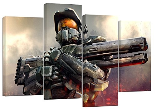 Halo Masterchief/Set von 4 neue Leinwand Split Prints 81,3 x 55,9 cm (3-masterchief Halo)