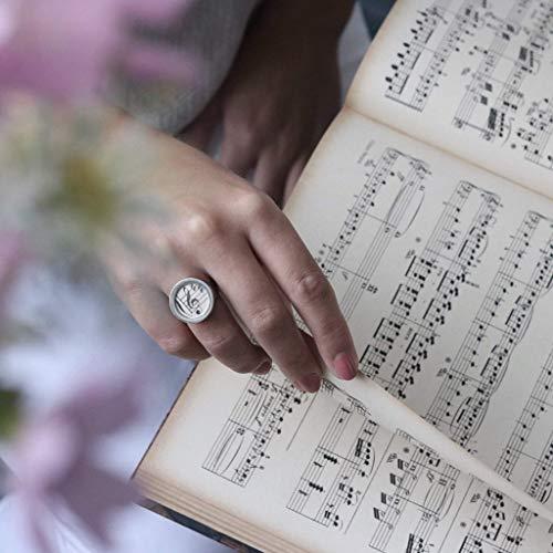 Ring mit Notenschlüssel // alte Notenblätter // Geschenk für Musiker