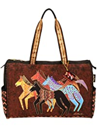 "Travel Bag Zipper Top 20.5""""X8.25""""X16""""-Native Horses"