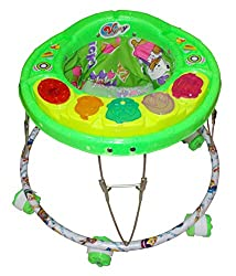 Kids Baby Cartoon Design Stroller Musical Walker Freely Move 6 Wheel Round Swing Leg Movement Drive Riding Helps Childs to Learn Walking Quickly Playtime Activities (6+ Months)