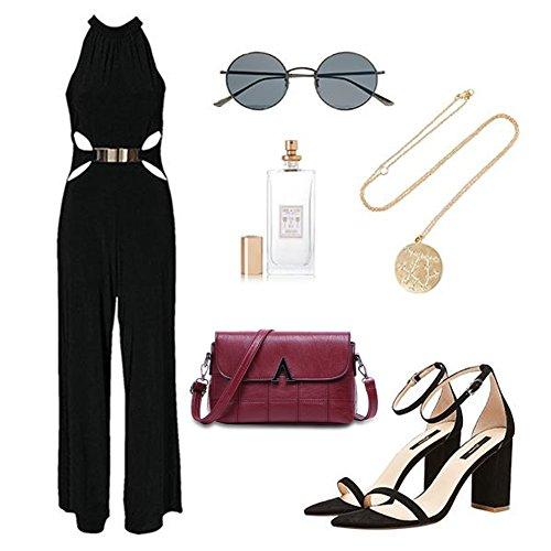 Sacchetti di spalla trasparenti dellannata di grande capacità della borsa del messaggero elegante delle donne di Yoome - viola Nero