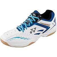 YONEX Power Cushion 34 para hombre bádminton zapatos, Color- White/Blue, Shoe Size- 10 UK