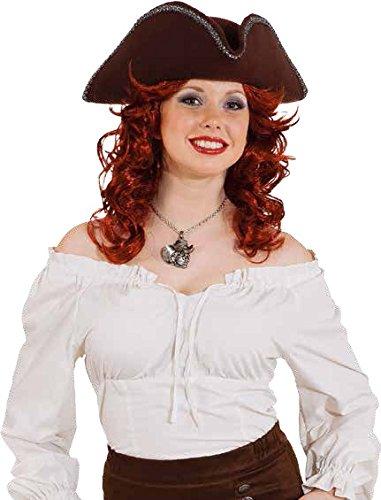 Orlob Seeräuberin Bluse zum Piratin Kostüm Karneval Fasching Gr.34/36