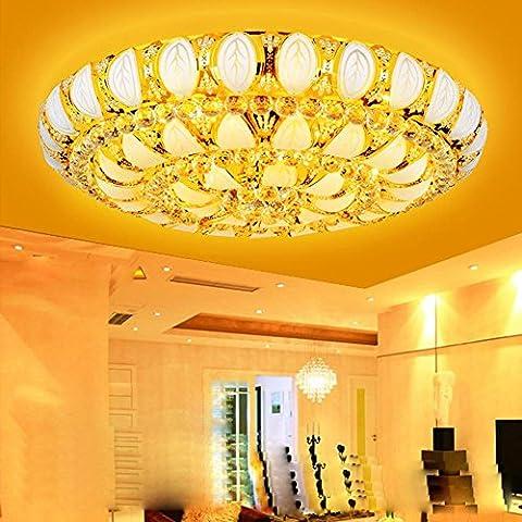 NHD-European golden cornucopia room Crystal lamp led ceiling lamp round bedroom dining room (Tavolo Cornucopia)