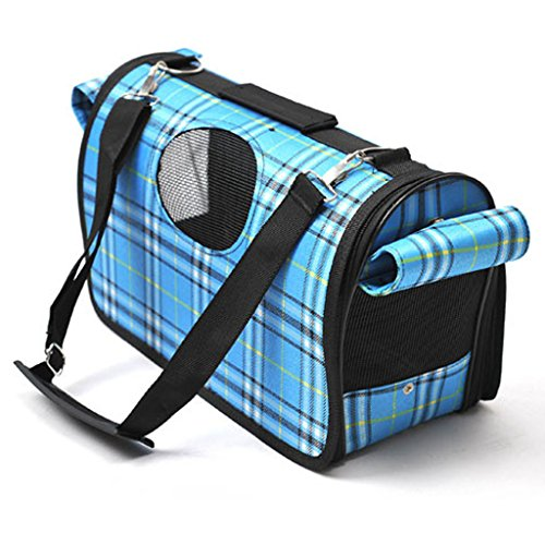PAWZ-Road-Plaid-Pet-Outdoor-Carrier-Cat-Dog-Comfort-Travel-Bag-Durable-and-Breathable-Full-Zipper-Cute-6-Colors