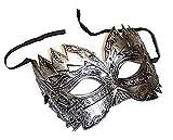 The Rubber Plantation TM 619219290449 - Disfraz de máscara veneciana para hombre, talla única, color plateado
