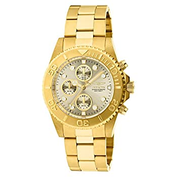 Invicta Pro Diver Unisex Chronograph Quartz Watch With Stainless Steel Gold Plated Bracelet – 1774 0