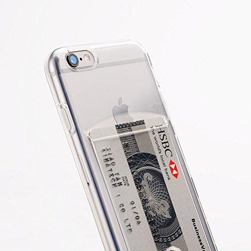 Funda iPhone 6 y 6S de silicona con tarjetero para guardar 1-2 tarjetas.