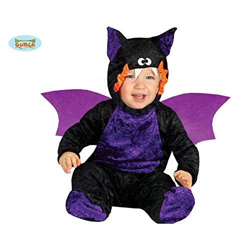 Baby Fledermaus Kostüm Halloween Babykostüm Halloweenkostüm Kleinkind Kinder Gr. 86 - 98, Größe:92/98