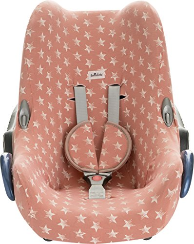 Preisvergleich Produktbild Janabebe® - Baumwollbezug Pink Star Maxi -Cosi Cabriofix, Citi, Streety.fix, Jané Koos, Abdeckung Stubenwagen , Autositz , + Schutz Gurtzeug,