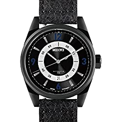 MEDOTA Grancey Men's Automatic Water Resistant Analog Quartz Watch - No. 2804 (Black/Blue)