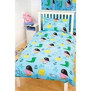 peppa wutz bettw sche set george pirate uk import k che haushalt. Black Bedroom Furniture Sets. Home Design Ideas