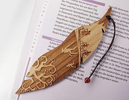 Segnalibro in legno, Stranger Things ispirato, sottosopra, MinaturArt