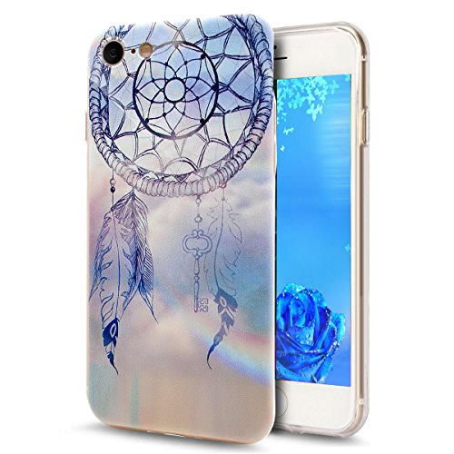 iPhone 7 Bling Coque,iPhone 7 Transparente Coque,iPhone 7 Silicone Coque,iPhone 7 Bling Diamant Cœur Etui Housse Coque,iPhone 7 Clear Coque,EMAXELERS iPhone 7 4.7 Pouce Souple Soft Gel Transparent TPU Dandelion Lover 3