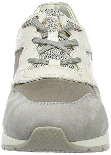 Geox D Shahira B, Sneakers Basses Femme Gris (Off White/Lt Greyc0856)