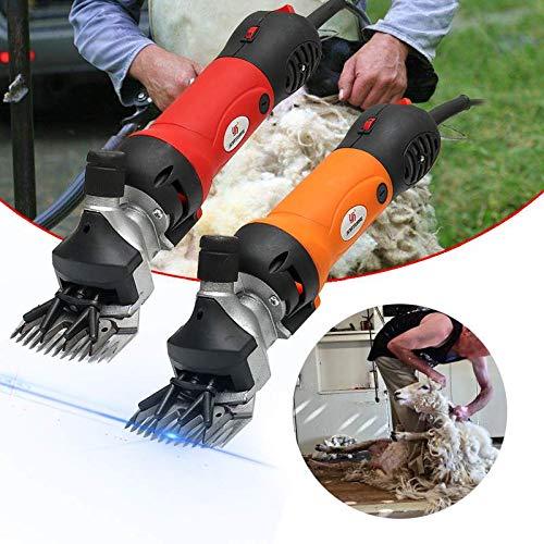 WG 850 Watt 220 V 6 Gänge Geschwindigkeit Elektrische Schaf Ziege Schermaschine Clipper Bauernhof Schere Cutter Wolle scherenschnitt Maschine Mit Box,Red