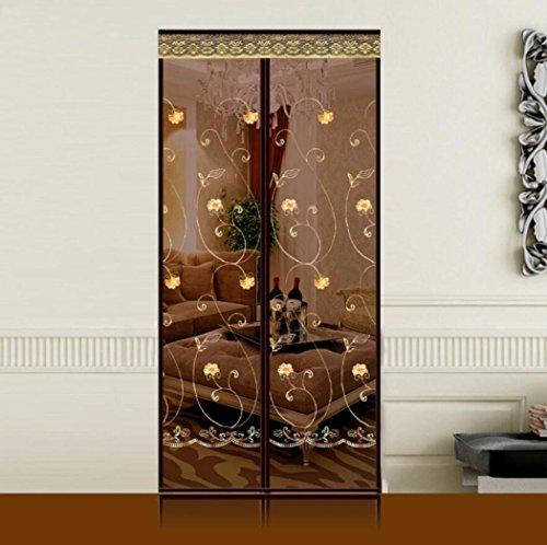 LyMei Klettverschluss Bildschirm-Fenster-Vorhang-Stilvolle magnetische Schirm-Tür-Anti-Moskito-Vorhang-waschende Maschen-Vorhang-Bildschirm-Tür,95X200cm