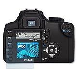 atFoliX Schutzfolie kompatibel mit Canon EOS 350D / Digital Rebel XT Folie, ultraklare FX Displayschutzfolie (3X)