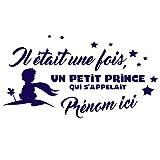 Sticker personnalisable le Petit Prince Bleu marine 30x20 cm...