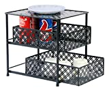 #10: Callas Premium 2-Tier Sliding Cabinet Basket Kitchen Organizer, CA2639, Black