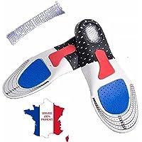 KWIM'S France® Semelles orthopédique semelle gel Sport amorti les chocs - Semelles chaussures soulage les épines calcanéennes pour un confort Optimal