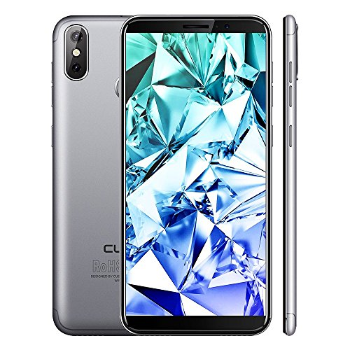 CUBOT J3 Pro 4G LTE Smartphone ohne Vertrag Handy, 5.5 Zoll 18: 9 Voll Bildschirm, Android GO 16GB ROM 1GB RAM MT6739 Quad-Core, 13MP+2MP Dual-Rückkamera,2800mAh Akku,Fingerabdruck (Grau)