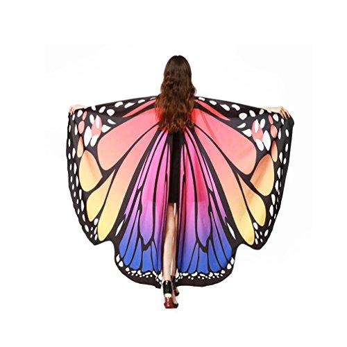 QinMM Frauen Schmetterlingsflügel Schal Schals, Damen Nymph Pixie Poncho Kostümzubehör (Heißes ()