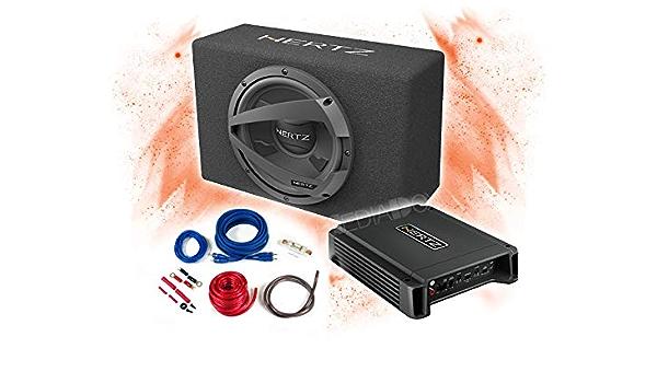 Hertz Basspaket 2 Kanal Endstufe Verstärker 25cm Subwoofer Kabel Set