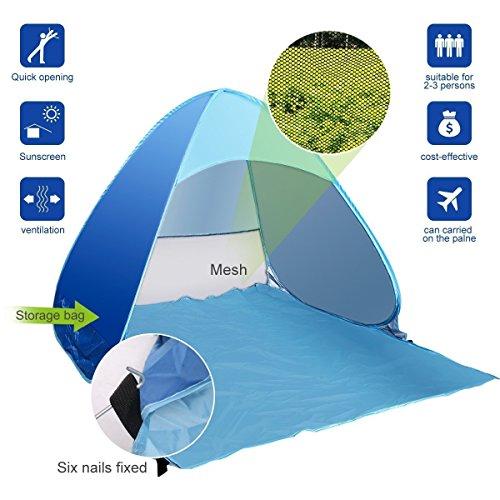Nikay - Tenda pop-up da spiaggia, per esterni, con protezione UPF 50+
