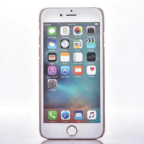 Voguecase® Pour Iphone SE, Rigide Plastique Shell Housse Coque Étui Case Cover(en bois motif-Marron clair)de Gratuit stylet l'écran aléatoire universelle Flocon de Quicksand-ovale-Pink