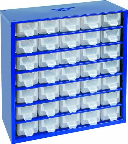 Kleinteilemagazin 35 teilig aus Metall Stapelbar Sortimentskasten