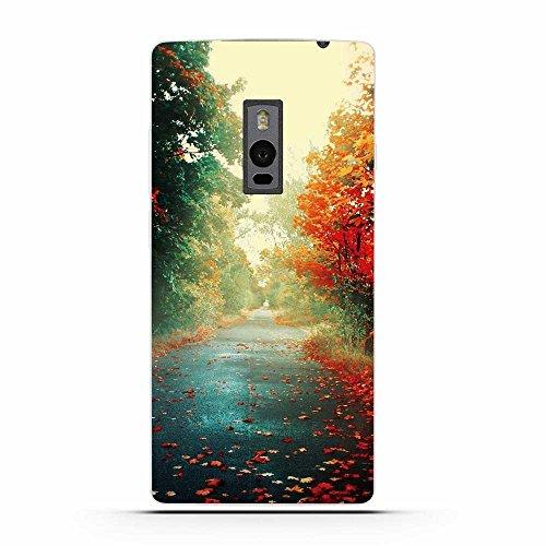 OnePlus Two Hülle, Fubaoda Schöne & romantische Landschaft Serie TPU Case Schutzhülle Silikon Case für OnePlus Two (1+2)