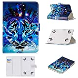 Uliking Universal Case for 8 Inch Tablet, Slim Magnetic Pu Leather Folio St