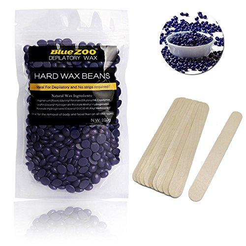 Bluezoo Haarentfernung Wachsbohnen, Halicer Heisswachs Für Intim, Beine, Arme und Gesicht Haarentfernung für zuhause 100g lila …