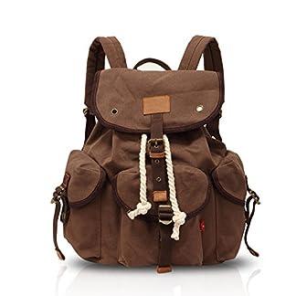 FANDARE Vintage Mochilas de para Hombre Mujer Casual Bolsas Mochila de con de Instituto para Ordenador Portátil Backpack Lona