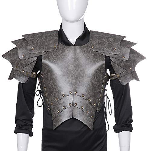 Mittelalterliche Kostüm Kind Krieger - WASAIO Halloween mittelalterliche Krieger Lederrüstung