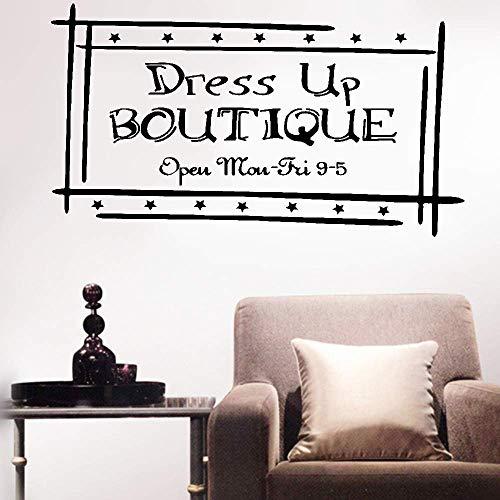 wandaufkleber sterne bunt Wall Sticker Decals Dress Up Boutique Open Mon-Fri 9-5 For Shop home decor