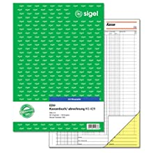 Sigel KG429 EDV Accounting Book with Copy Paper, Tax Rail 300 A4 2 x 50 Sheets with Blue Carbon Paper with Blue Carbon Paper, 2 x 50 Sheets (Pack of 10) Pack of 1