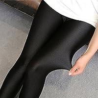 Youji 2016 Nueva Llegada Brillante Sexy Leggings Lycra Spandex Leggings para Dama Bueno Elástico para Las Mujeres Push up Brillante Leggings