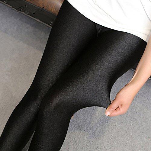 Lycra Spandex Leggings (Youji 2018 Ankunft Shiny Sexy Leggings Lycra Spandex Leggings für Dame Gute Elastische für Frauen drücken Shiny Leggings)